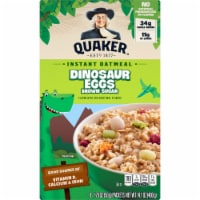 Quaker Dinosaur Eggs Brown Sugar Instant Oatmeal Packets