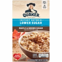 Quaker Breakfast Cereal Lower Sugar Maple and Brown Sugar Instant Oatmeal 10 Count