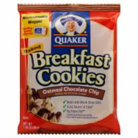 Quaker Chocolate Chip Breakfast Cookie - 1.7 oz. package, 50 per case - 1-84.48 OUNCE