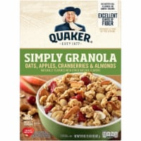 Quaker Simply Granola Oats Apples Cranberries and Almonds Breakfast Cereal