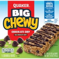 Quaker Big Chewy Granola Bars 60% Larger Chocolate Chip Snack Chewy Bars