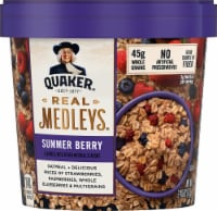 Quaker Real Medleys Summer Berry Instant Oatmeal Cereal Cup