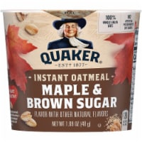 Quaker Maple and Brown Sugar Instant Oatmeal Cereal Cup