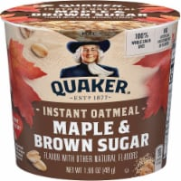 Quaker Instant Oatmeal Maple Brown Sugar, 1.69 Ounce -- 24 per case. - 24-1.69 OUNCE