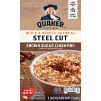 Quaker Select Start Brown Sugar Cinnamon Steel Cut Instant Oatmeal Packets - 8 ct / 1.69 oz