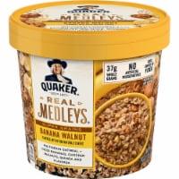 Quaker Real Medleys Super Grains Banana Walnut Oatmeal Cereal Cup