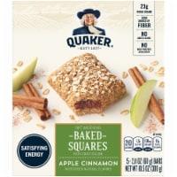 Quaker Baked Squares Apple Cinnamon Soft Baked Breakfast Bars 5 Count Snack Bars