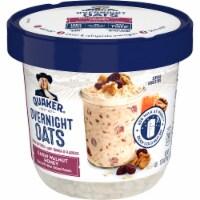 Quaker Overnight Oats Raisin Walnut Honey Chilled Oatmeal Breakfast Cup