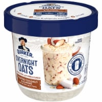 Quaker Overnight Oats Toasted Coconut Almond Chilled Oatmeal Breakfast Cup