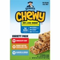 Quaker Chewy Less Sugar Granola Bars Variety Pack