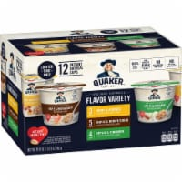 Quaker Instant Oatmeal Cups Variety Pack 12 Count - 19.8 oz