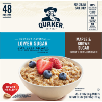 Quaker Lower Sugar Maple & Brown Sugar Instant Oatmeal Packets