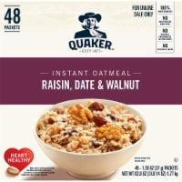 Quaker Raisin Date & Walnut Instant Oatmeal Packets