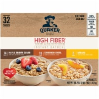 Quaker Select Starts High Fiber Instant Oatmeal Variety Pack 32 Count
