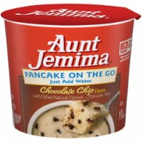 Aunt Jemima Pancake On The Go Chocolate Chip Pancake Mix Breakfast Cup