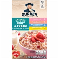 Quaker Fruit and Cream Instant Oatmeal Breakfast Variety Pack