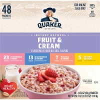 Quaker Fruit & Cream Instant Oatmeal Variety Pack 48 Count