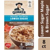 Quaker® Lower Sugar Maple & Brown Sugar Instant Oatmeal - 8 ct / 1.19 oz