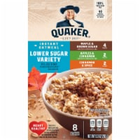 Quaker Lower Sugar Instant Oatmeal Variety Pack - 8 ct / 1.16 oz