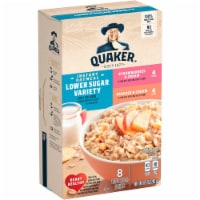 Quaker® Lower Sugar Instant Oatmeal Variety Pack - 8 ct / 1.05 oz