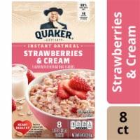 Quaker Strawberries & Cream Instant Oatmeal - 8 ct / 1.05 oz