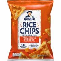 Quaker® Farmhouse Cheddar Rice Chips - 2.5 oz