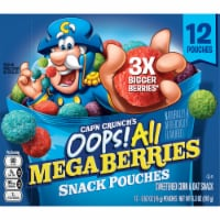 Cap'N Crunch's Oops All Mega Berries Sweetened Corn & Oat Snack Pouches