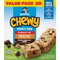 Quaker Chewy Variety Pack Granola Bars Value Pack - 30 ct / 0.84 oz
