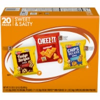 Keebler Mini Chips Deluxe Cheez-It Mini Fudge Stripe Variety Pack 20 Count