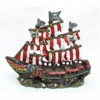 Penn-Plax Striped Sail Shipwreck Aquarium Decoration 12 Inch - 1 each