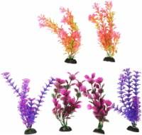 Penn-Plax Colorful Aquarium Plastic Plant Pack, 8-Inch - 1 each