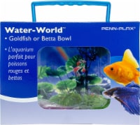 Penn-Plax Goldfish Betta Fish Bowl With Decorations Plastic 1.25 Gallon Bowl With Lid - 1 each