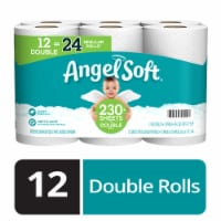 Angel Soft Double Roll Bath Tissue 12 Rolls