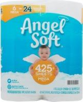 Angel Soft® Mega Roll Unscented Bathroom Tissue - 6 rolls
