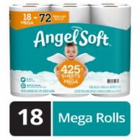 Angel Soft Mega Roll Bath Tissue - 18 rolls