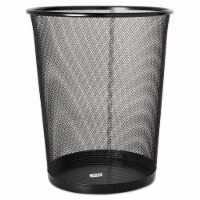 Rolodex Steel Round Mesh Trash Can, 4.5 Gal, Black 22351 - 1