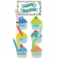 Color Pop Birthday Mini Bulletin Board Set, 53 Pieces - 1