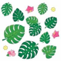 Palm Paradise Monstera Leaves Bulletin Board Set - 1