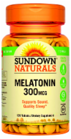 Sundown Naturals Melatonin 300 mcg Tablets