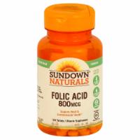 Sundown Naturals Folic Acid 800 mg Tablets