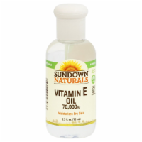 Sundown Naturals Vitamin E Oil 70000 IU Liquid