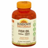 Sundown Naturals Fish Oil 1000 mg Omega-3 Softgels