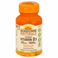 Sundown Naturals Chewable Vitamin D3 Strawberry Banana Tablets 25mcg