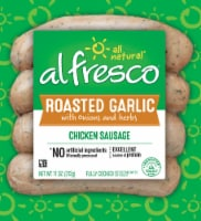 AlFresco Farms Roasted Garlic Chicken Sausage 4 Count