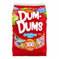 Dum Dums Original Assorted Flavor Lollipops 300 Count - 51 oz