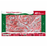 Spangler Mini Peppermint Candy Canes 40 Count