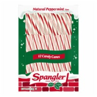 Spangler Natural Peppermint Candy Canes 12 Count