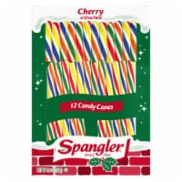 Spangler Cherry Flavor Candy Canes 12 Count