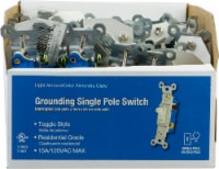 GE 15A/120VAC Grounding Single Pole Toggle Switch - Light Almond