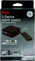 GE Pro 3-Device HDMI Switch with Wireless Remote - Black